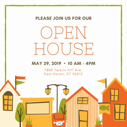 School Open House Invitations Templates Lovely Open House Invitation Templates Canva