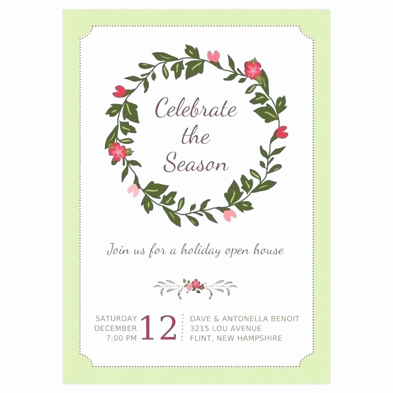School Open House Invitations Templates Lovely Open House Invitation Wording Holiday Announcement