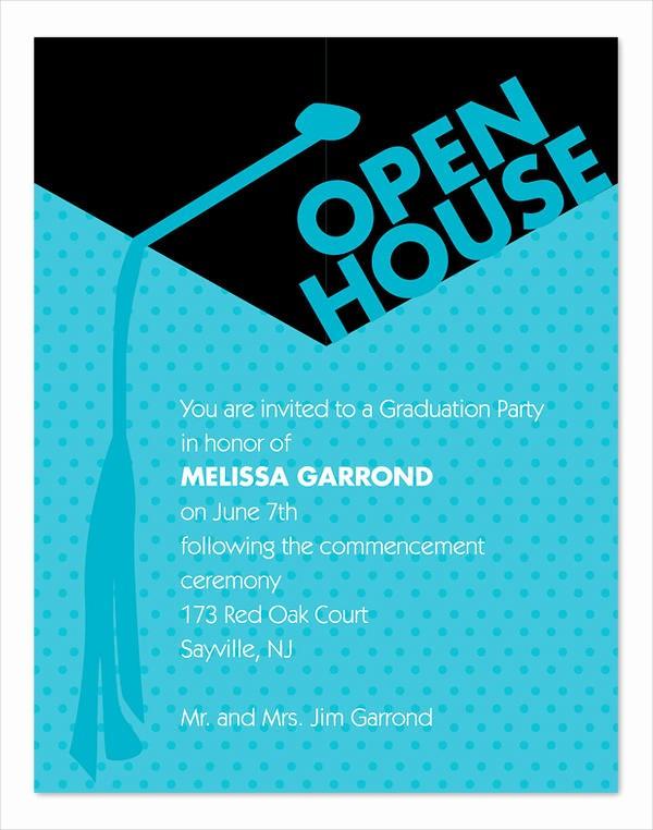 School Open House Invitations Templates Luxury 45 Graduation Invitation Designs & Templates Psd Ai