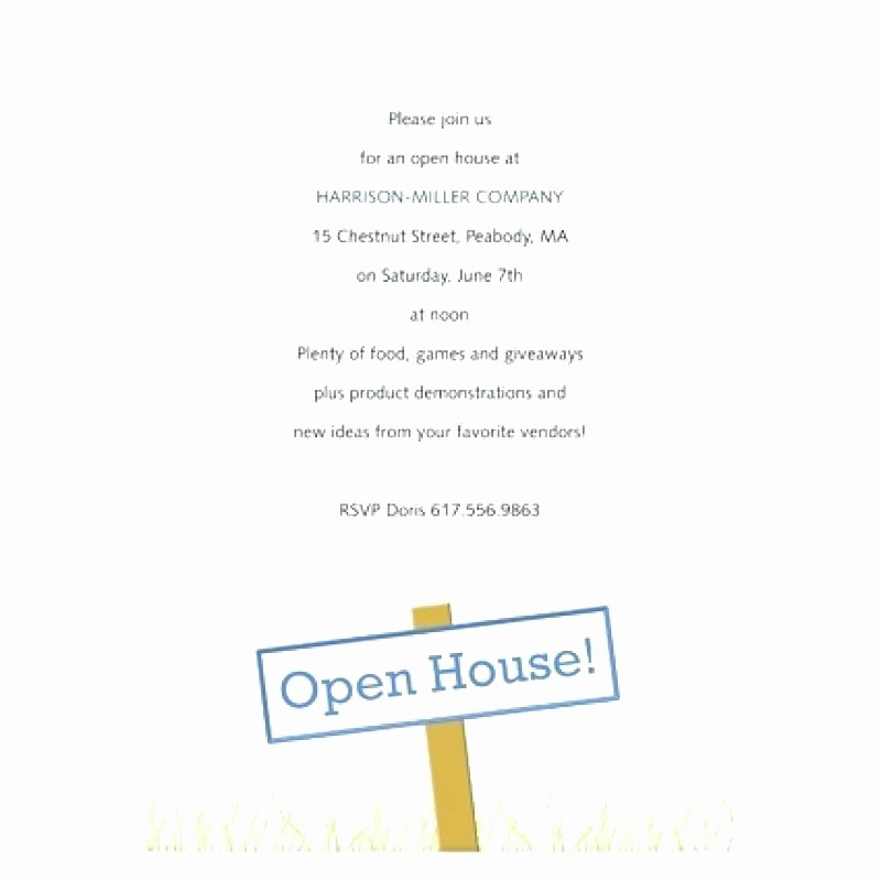 School Open House Invitations Templates Luxury Open House Invitation Wording Open House Invitation