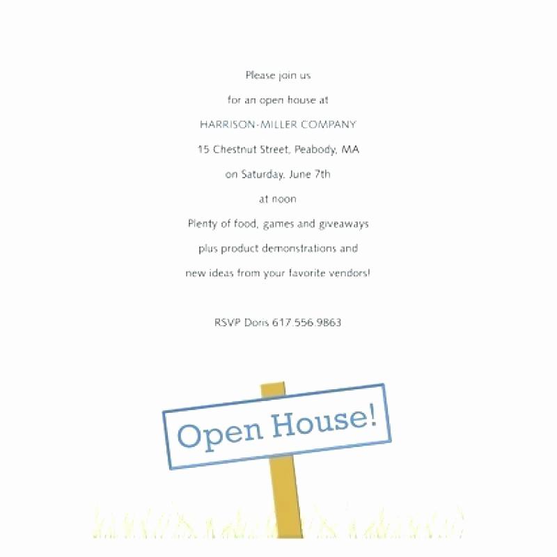 School Open House Invitations Templates Luxury Open House Invitation Wording Open House Invitation