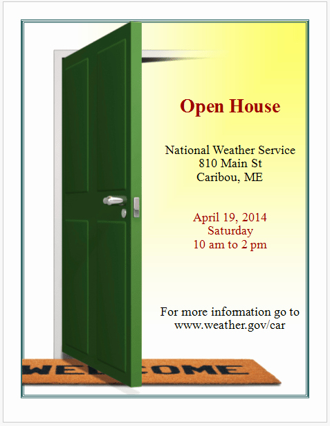 School Open House Invitations Templates New Open House Invitation Flyer Template Free Flyer Templates