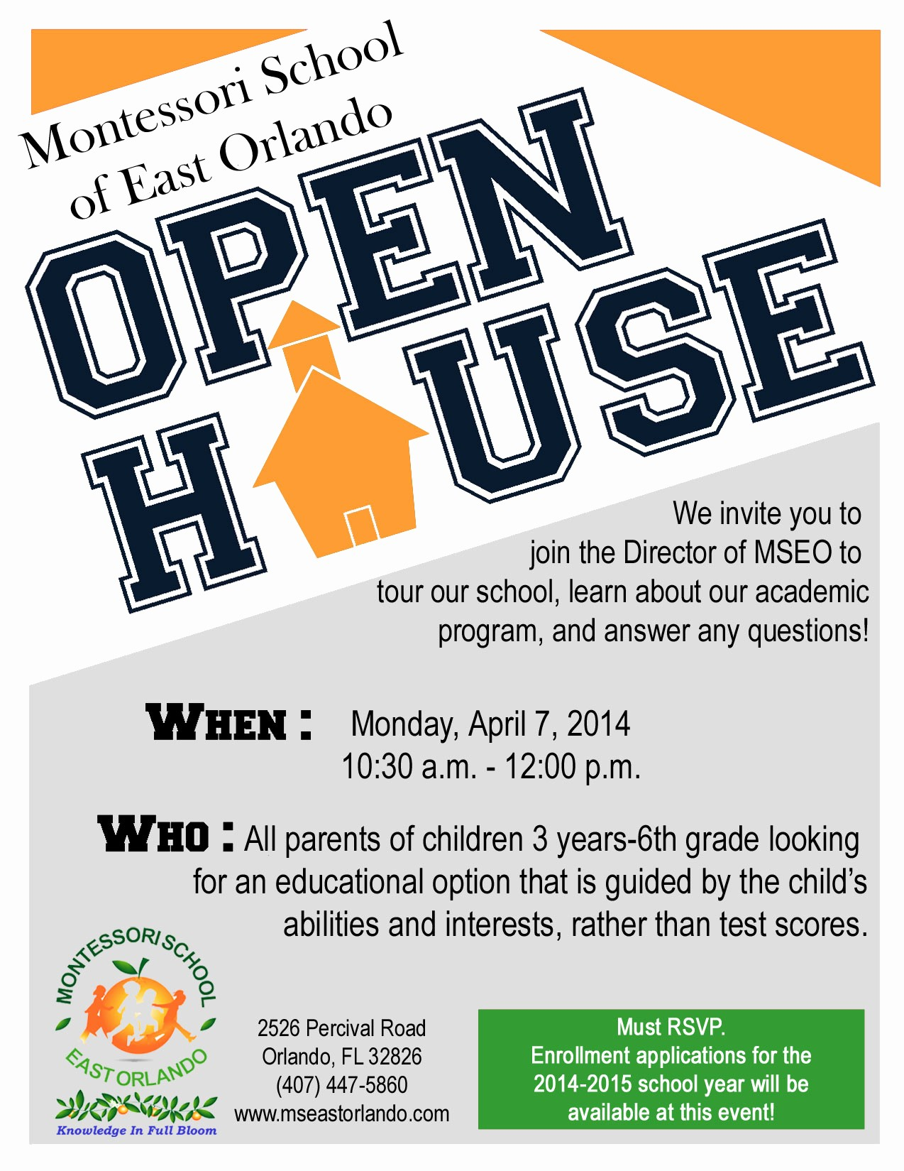 School Open House Invitations Templates New School Open House Flyer Template Portablegasgrillweber