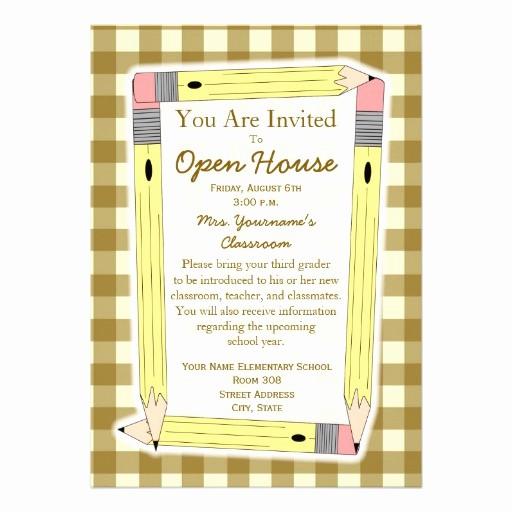 """School Open House Invitations Templates Unique Back to School Open House Invitation 5"""" X 7"""" Invitation"""