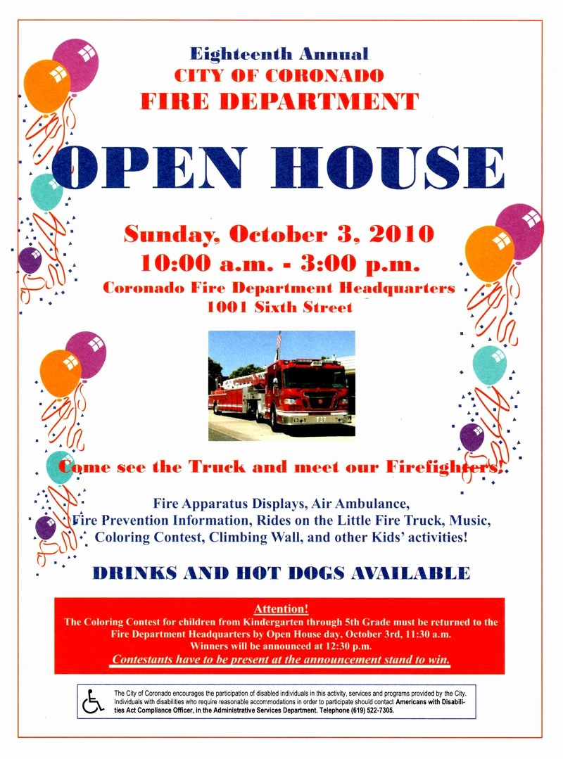 School Open House Invitations Templates Unique Next Week is Fire Prevention Week Open House October 3rd