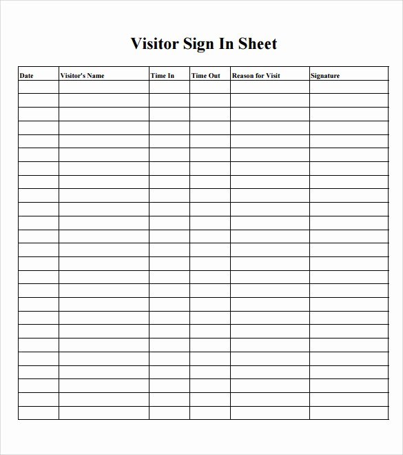 School Sign In Sheet Template Best Of Sample School Sign In Sheet 11 Download Documents In Pdf