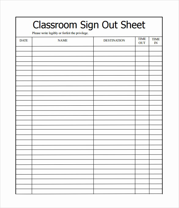 School Sign In Sheet Template New 12 Sample School Sign In Sheets
