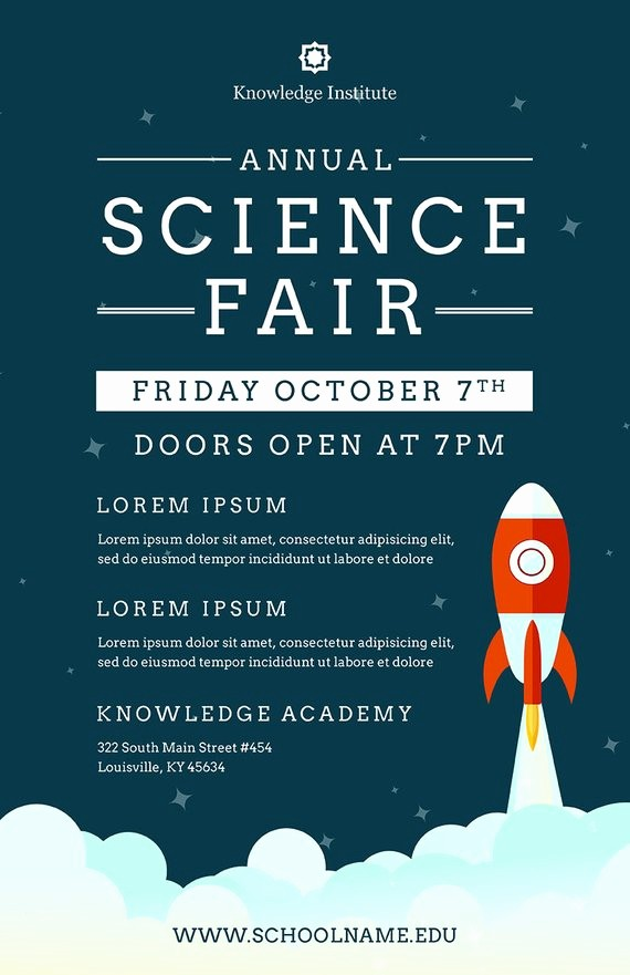Science Fair Project Template Word Lovely Diy Printable School Science Fair Flyer Template Word