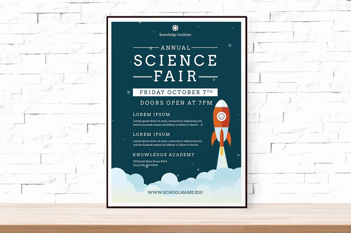 Science Fair Project Template Word Luxury Diy Printable School Science Fair Flyer Template Word Flyer