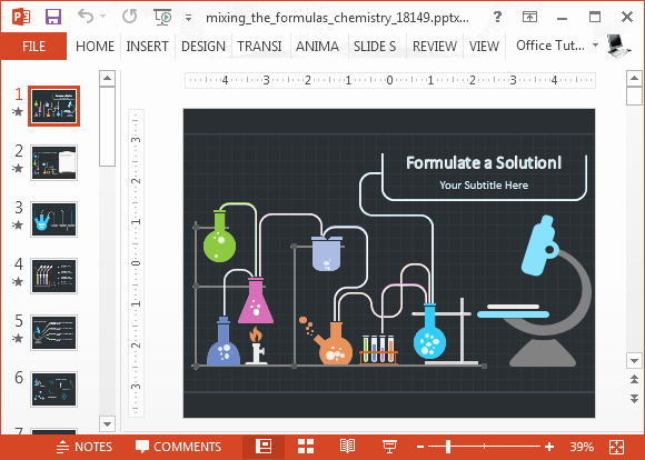 Science Powerpoint Templates Free Download Unique Animated Chemistry Powerpoint Template