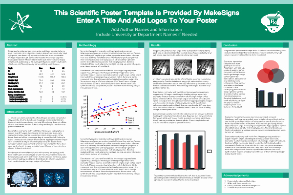Scientific Poster Template Powerpoint Free Awesome Scientfic Poster Powerpoint Templates