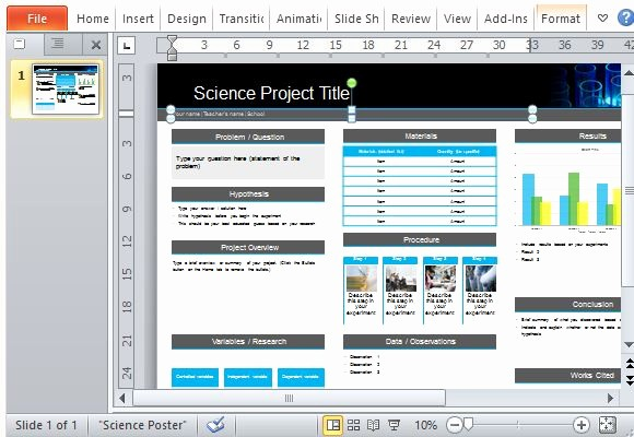 Scientific Poster Template Powerpoint Free Beautiful Science Poster Project Template for Powerpoint