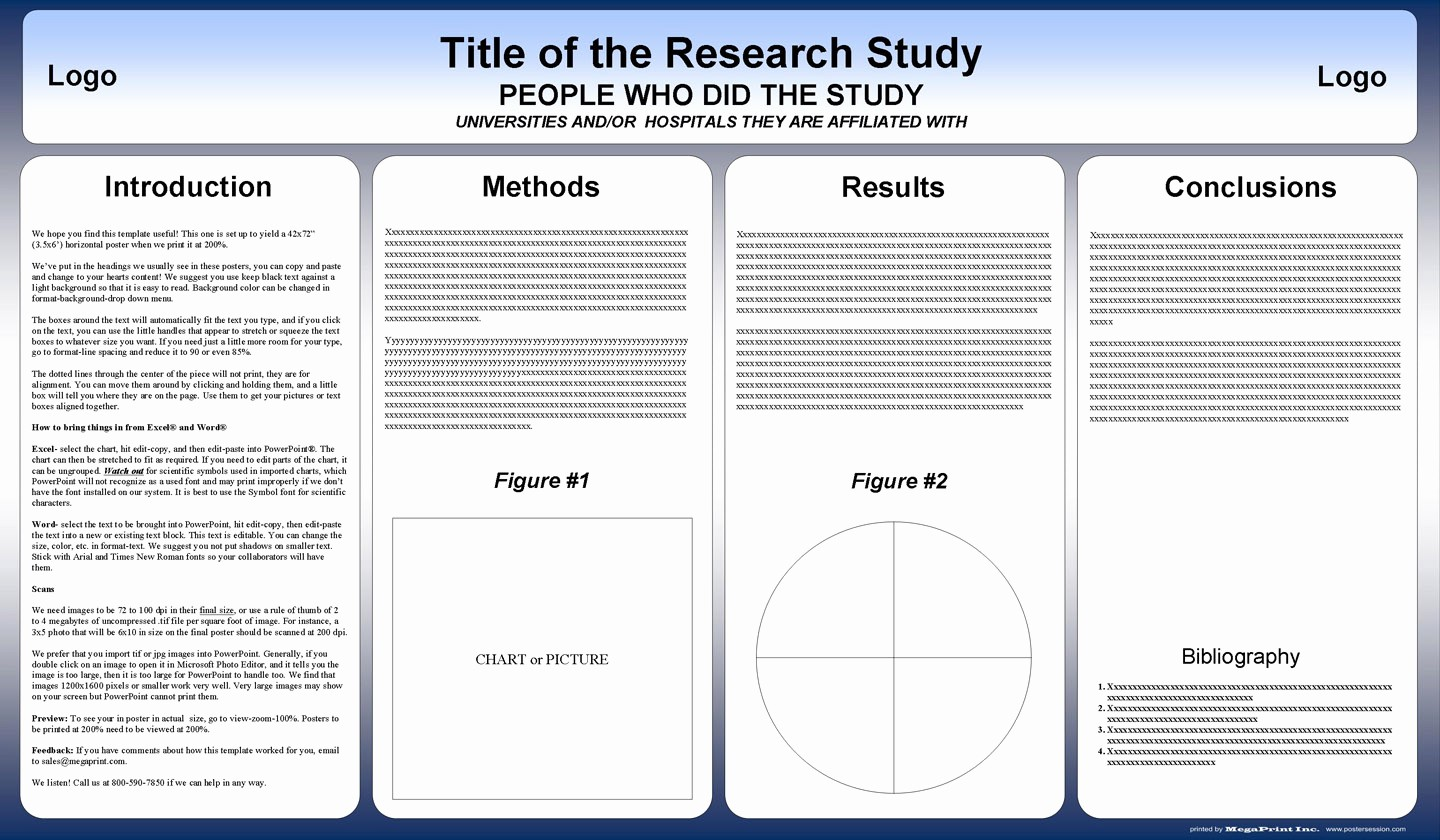 Scientific Poster Template Powerpoint Free Elegant Free Powerpoint Scientific Research Poster Templates for