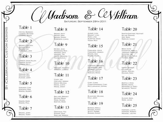 Seating Chart Wedding Template Free Beautiful 30 Best Images About Seating Chart On Pinterest