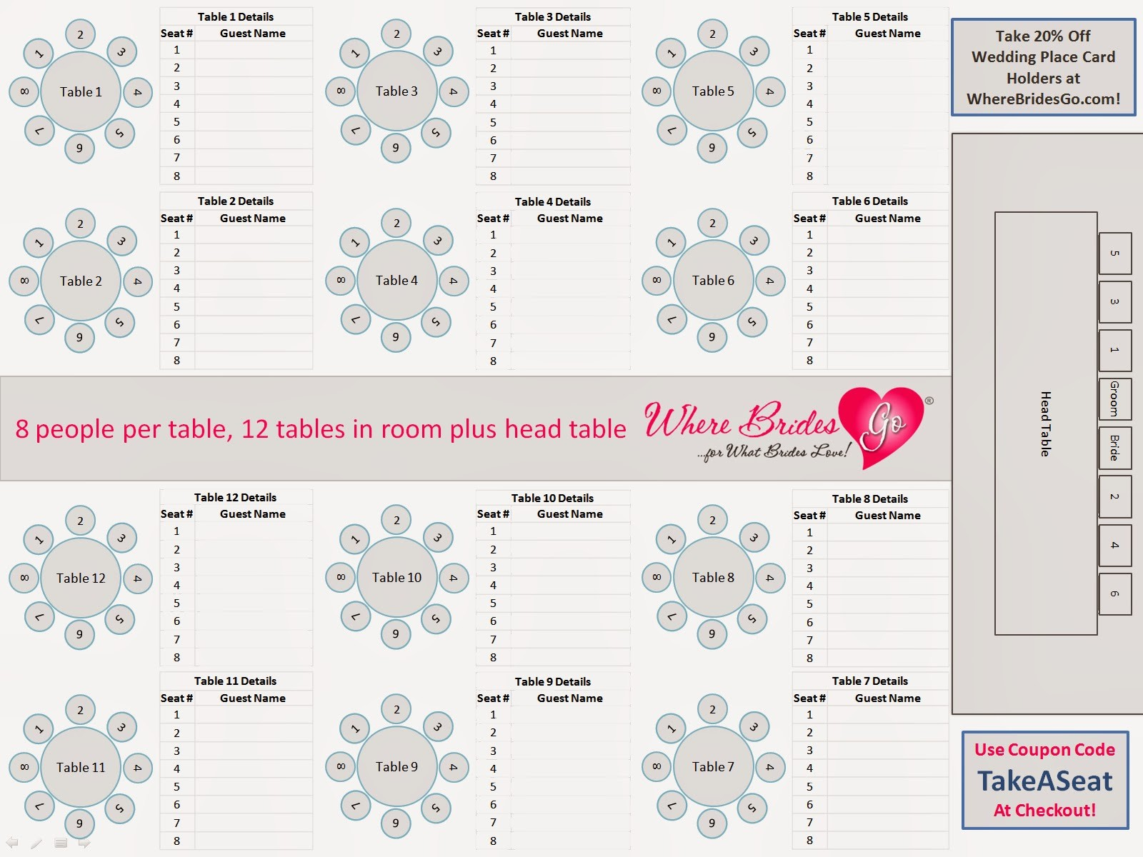Seating Chart Wedding Template Free Best Of Seating Chart for Wedding Reception Template