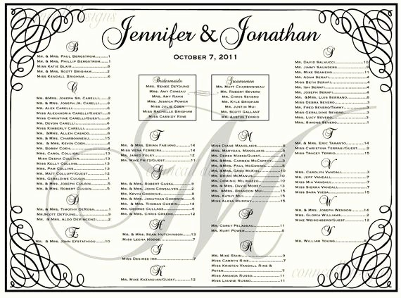 Seating Chart Wedding Template Free Inspirational Wedding Seating Chart Seating Template by Charmingpapershop