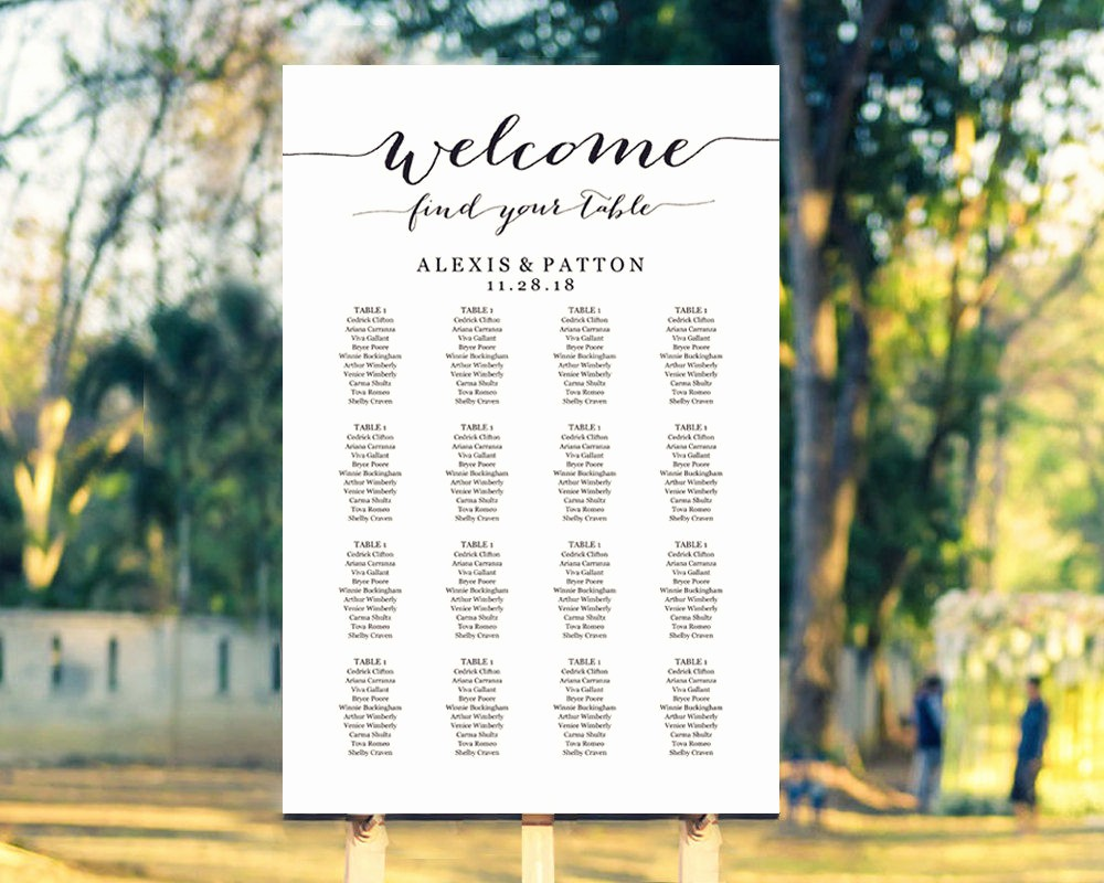 Seating Chart Wedding Template Free Lovely Seating Chart Templates · Wedding Templates and Printables
