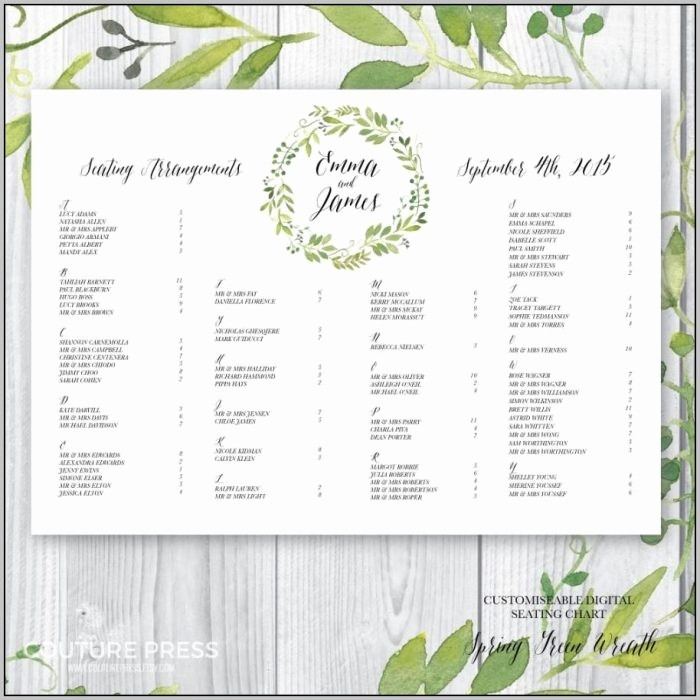 Seating Chart Wedding Template Free Luxury Wedding Seating Plan Template Free Template Resume