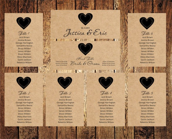 Seating Chart Wedding Template Free Unique Seating Chart Template