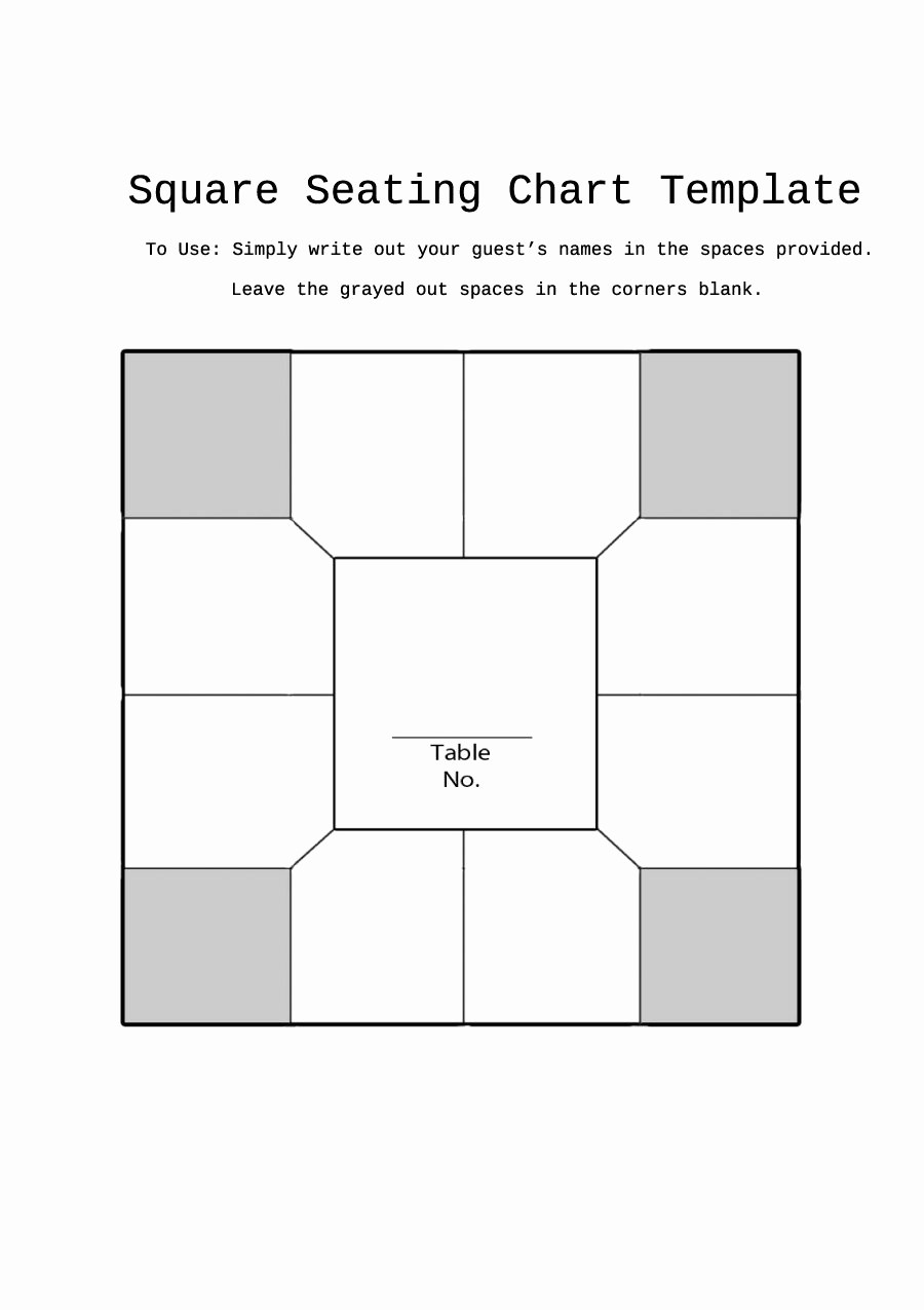 Seating Charts Templates for Classrooms Beautiful 40 Great Seating Chart Templates Wedding Classroom More