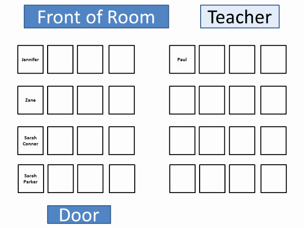 Seating Charts Templates for Classrooms Beautiful Classroom Seating Chart Template