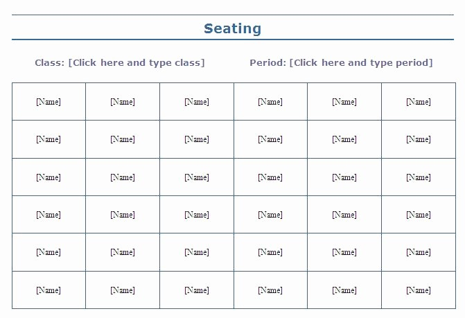Seating Charts Templates for Classrooms Elegant 9 Best Of Effective Classroom Seating Charts High