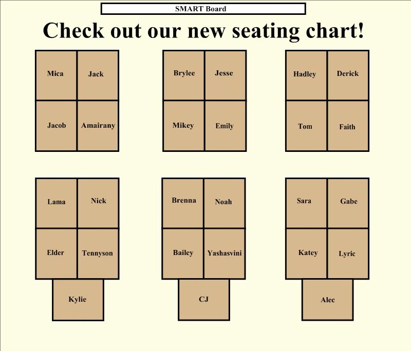 Seating Charts Templates for Classrooms Elegant Smart™ In the Classroom