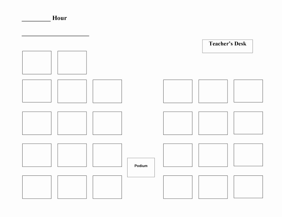 Seating Charts Templates for Classrooms Fresh 40 Great Seating Chart Templates Wedding Classroom More