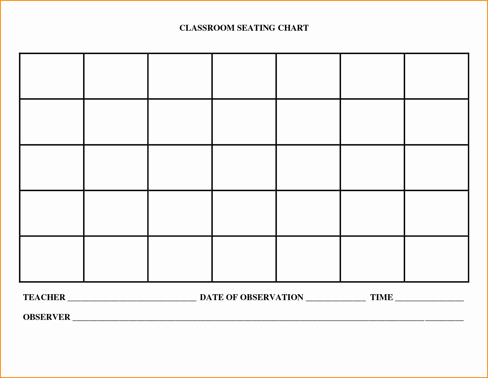 Seating Charts Templates for Classrooms Fresh Church Seating Plan Template