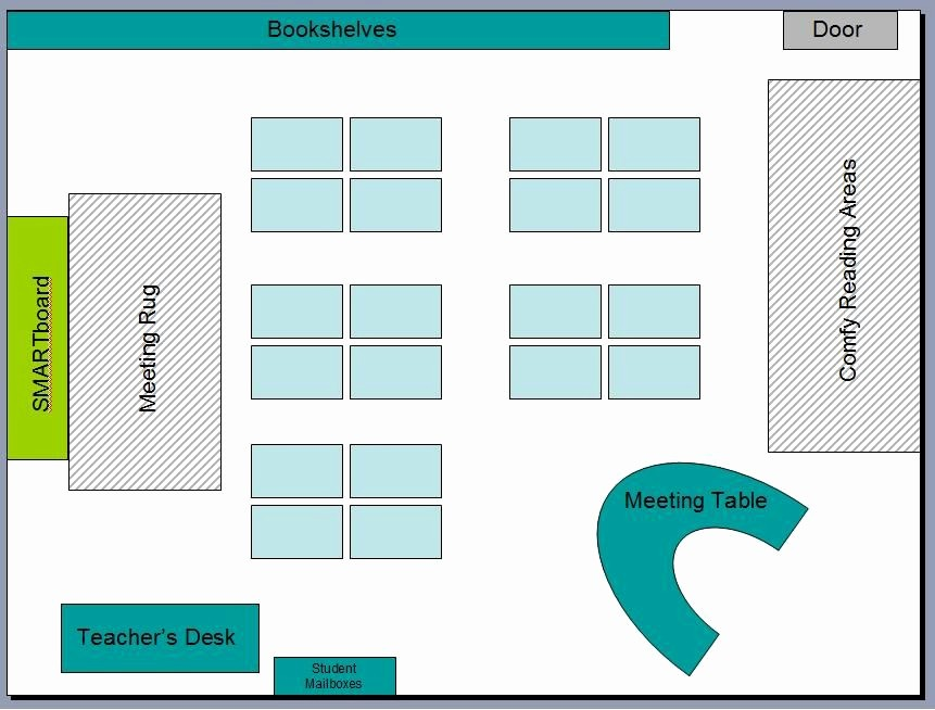 Seating Charts Templates for Classrooms Fresh Free Able Basic Classroom Seating Chart Template
