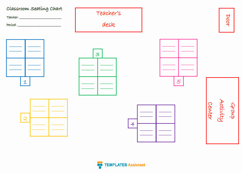 Seating Charts Templates for Classrooms Lovely 5 Seating Chart Templates