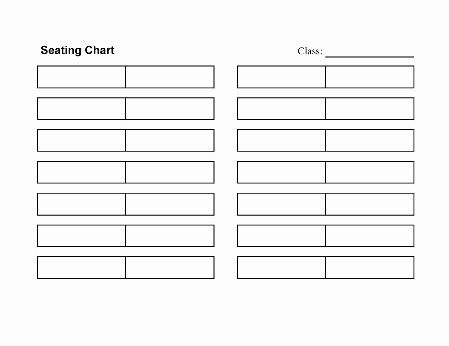 Seating Charts Templates for Classrooms Luxury 40 Great Seating Chart Templates Wedding Classroom More