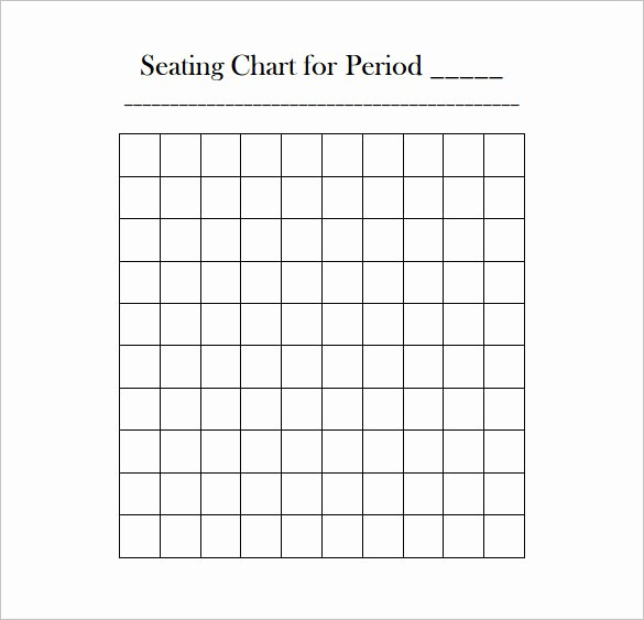 Seating Charts Templates for Classrooms New Classroom Seating Chart Template – 10 Free Sample