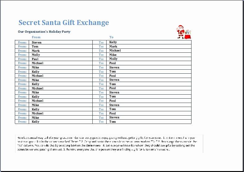 Secret Santa Gift Exchange Template Awesome Secret Santa Template Invitation Template