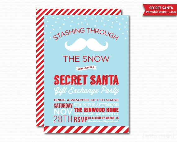 Secret Santa Gift Exchange Template Beautiful 10 Best S Of Secret Santa Fice Invitations Secret