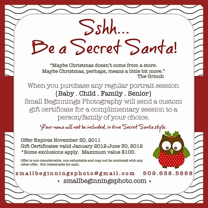 Secret Santa Gift Exchange Template Elegant Secret Santa Email Template Templates Data