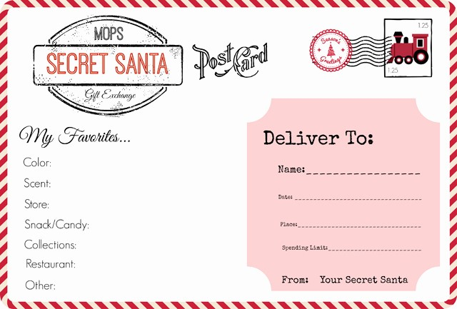 Secret Santa Gift Exchange Template Inspirational Mops Christmas Our Secret Santa Gift Exchange