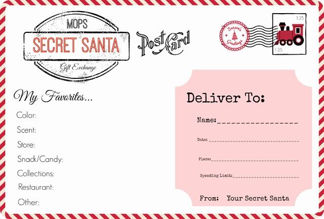 Secret Santa Gift Exchange Template Inspirational Mops Christmas Our Secret Santa Gift Exchange