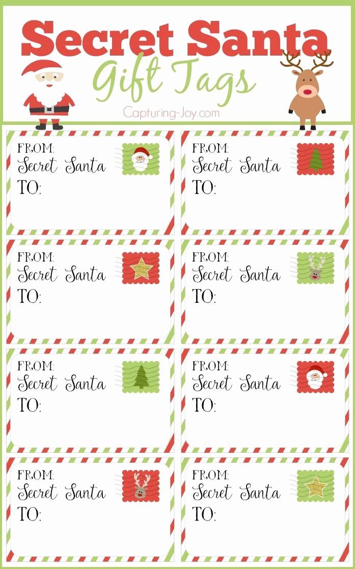 Secret Santa Gift Exchange Template Unique Secret Santa Gift Tags Secret Santa Gift Exchange Ideas