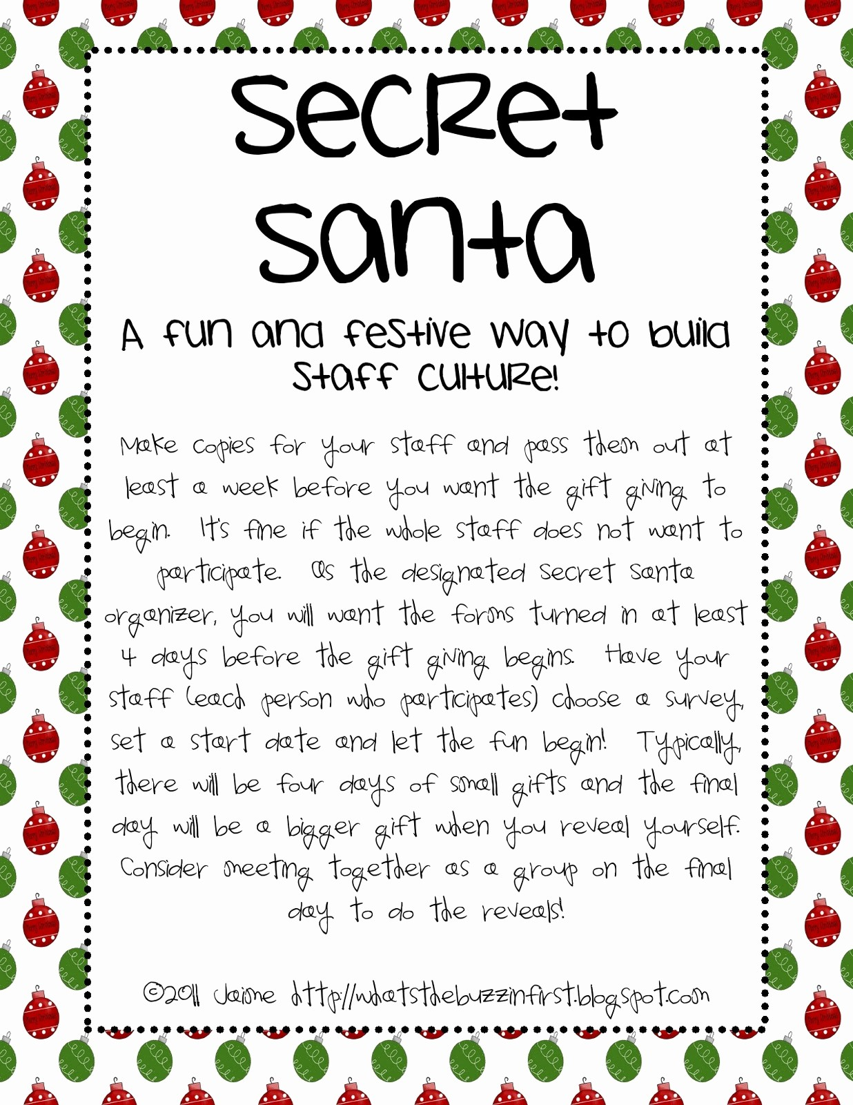 Secret Santa List for Work Awesome What S the Buzz In First December 2011