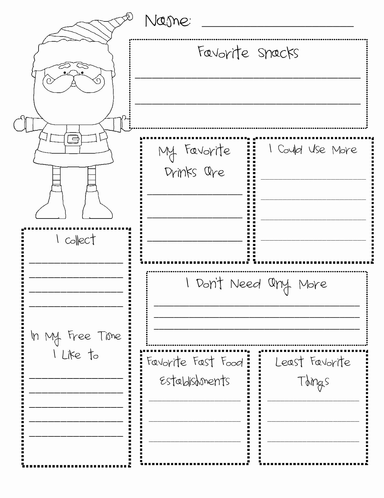 Secret Santa List for Work Best Of Free Printable Secret Santa form