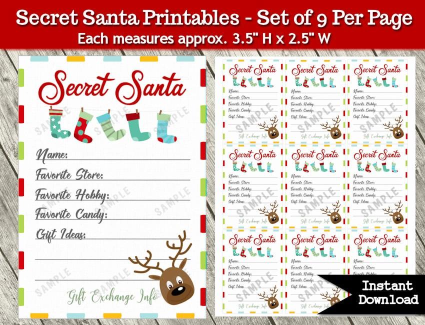 Secret Santa List for Work Best Of Secret Santa Gift Exchange Printable Pdf Christmas Party