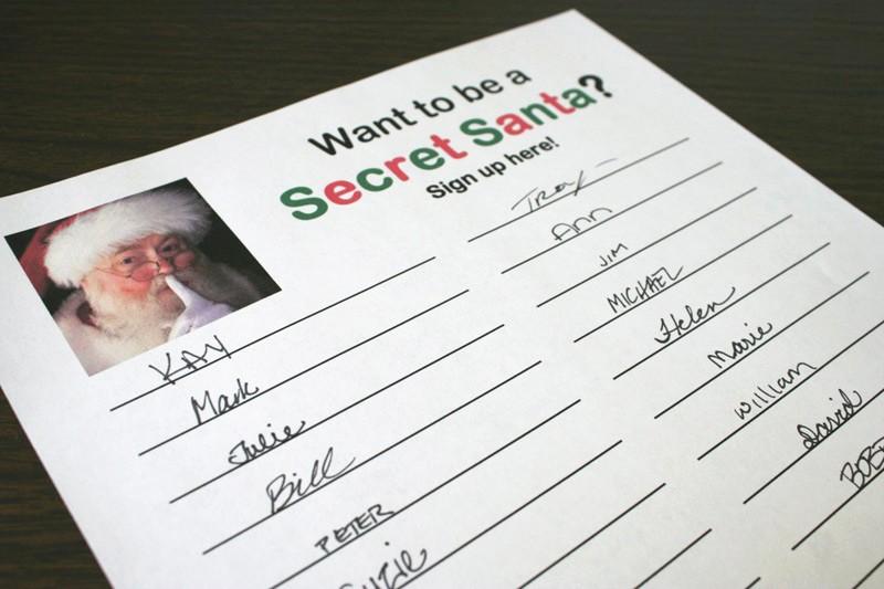 Secret Santa List for Work Elegant Secret Santa Sign Up Sheet