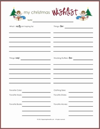 Secret Santa List for Work Inspirational Secret Santa Template Wishlist Invitation Template