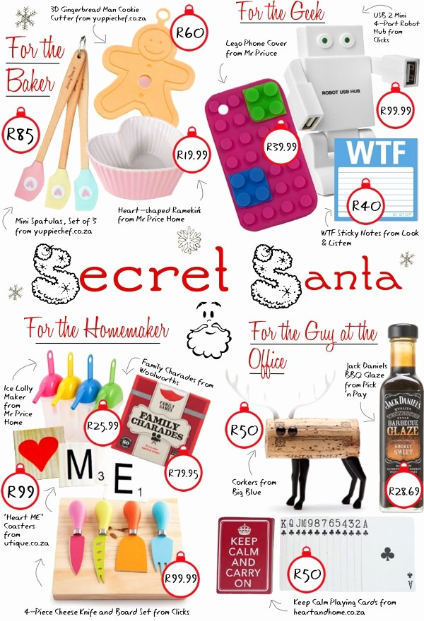 Secret Santa List for Work New Christmas Goo S – Lipgloss Kisses