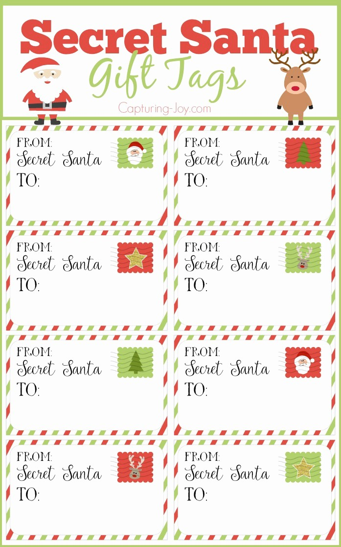 Secret Santa List for Work Unique Secret Santa Gift Tags Secret Santa Gift Exchange Ideas