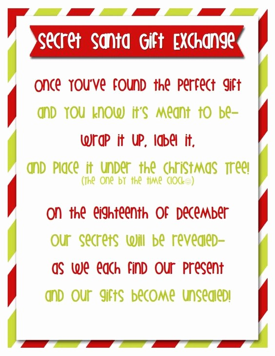 Secret Santa Sign Up List Inspirational Secret Santa is A Great Tradition to Play with Friends and