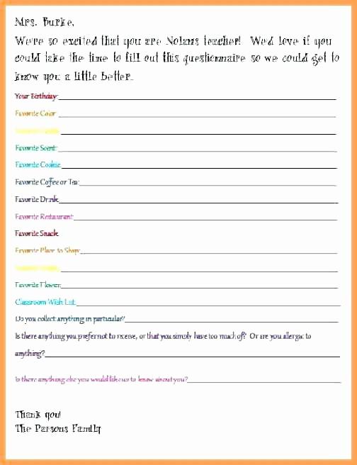 Secret Santa Sign Up List New Secret Questionnaire Template Questions Teacher