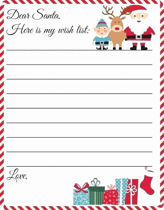 Secret Santa Sign Up List Unique Free Printable Letter to Template Cute Wish List Secret