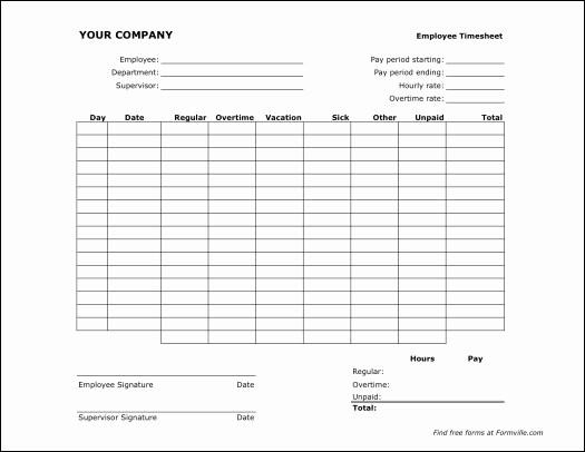 Semi Monthly Timesheet Template Excel Elegant Free Printable Monthly Timesheet Template